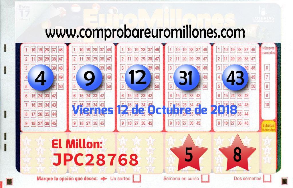 Sorteo de El Euromillones del 12 de octubre: el segundo premio cae en Dos Hermanas
