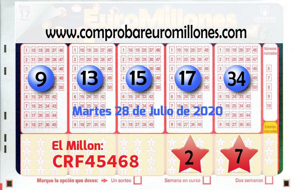 El Euromillón del Martes envía 121.000 de euros a Azpeitia por un boleto acertado