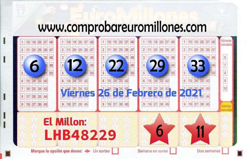 Un boleto de El Euromillones deja  2.495.000 euros en Madrid