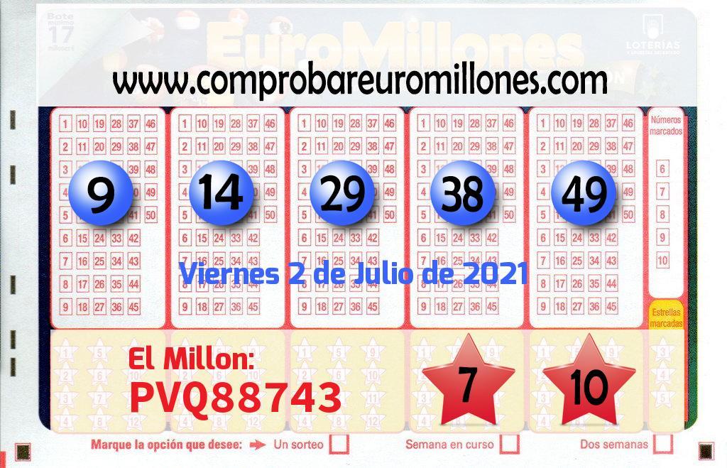 El Euromillones. El primer premio deja  77.960.000 euros en Málaga
