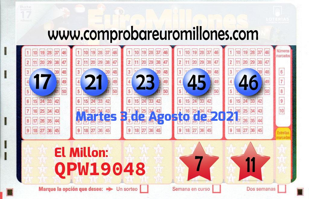 El Euromillones deja mas de 193.000 euros en Coruña A (Coruña )
