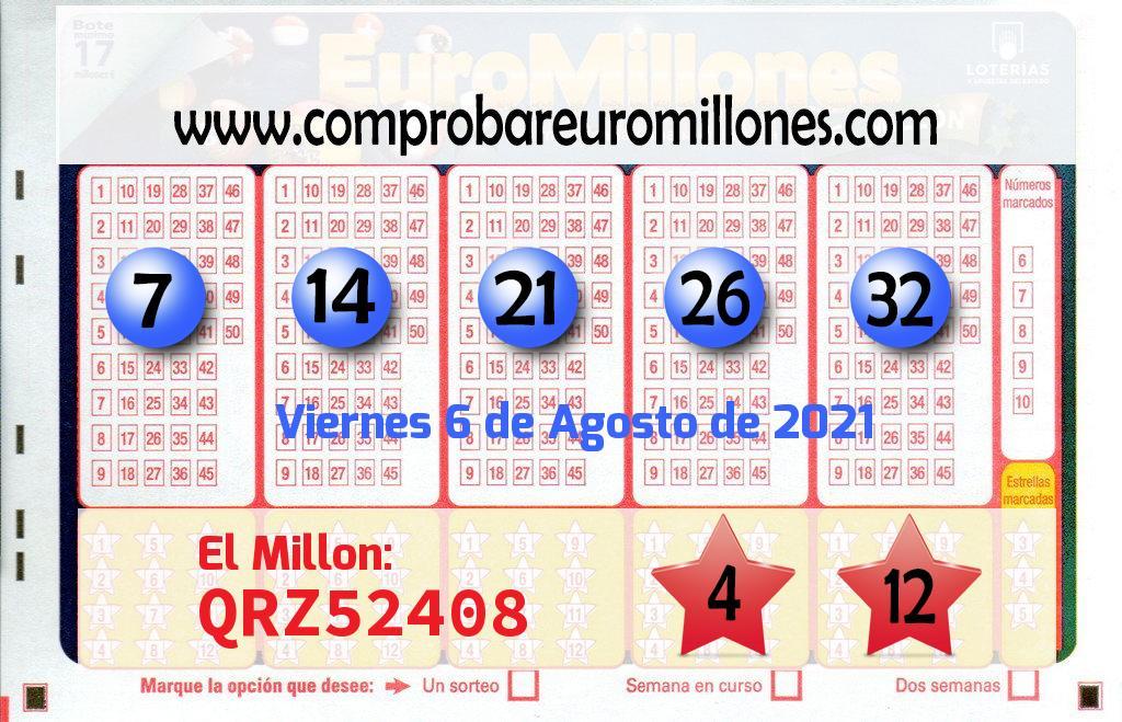 Sorteo de El Euromillones del  6 de agosto: el segundo premio cae en Vilafranca Del PenedÈs